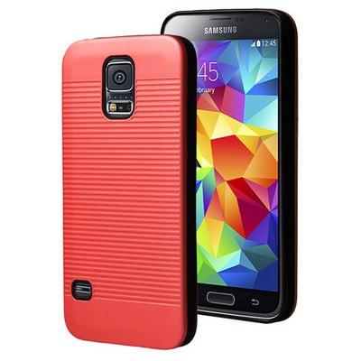 Microsonic Samsung Galaxy S5 Kılıf Linie Anti-shock Kırmızı Cep Telefonu Kılıfı