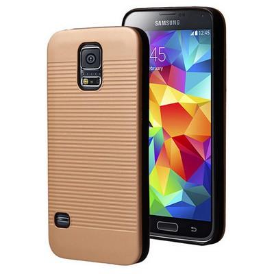 Microsonic Samsung Galaxy S5 Kılıf Linie Anti-shock Gold Cep Telefonu Kılıfı
