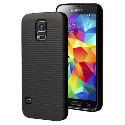 Microsonic Samsung Galaxy S5 Kılıf Linie Anti-shock Siyah Cep Telefonu Kılıfı