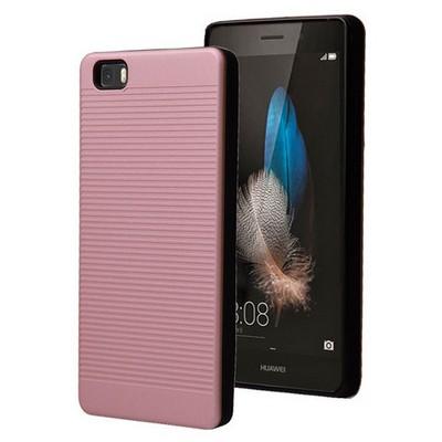Microsonic Huawei Ascend P8 Lite Kılıf Linie Anti-shock Pembe Cep Telefonu Kılıfı