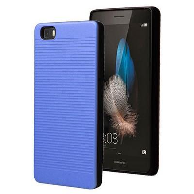 Microsonic Huawei Ascend P8 Lite Kılıf Linie Anti-shock Mavi Cep Telefonu Kılıfı
