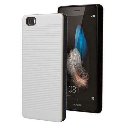 Microsonic Huawei Ascend P8 Lite Kılıf Linie Anti-shock Beyaz Cep Telefonu Kılıfı