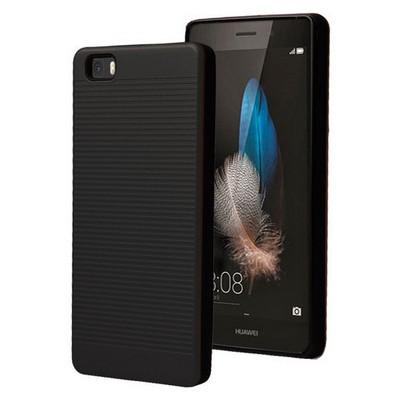 Microsonic Huawei Ascend P8 Lite Kılıf Linie Anti-shock Siyah Cep Telefonu Kılıfı