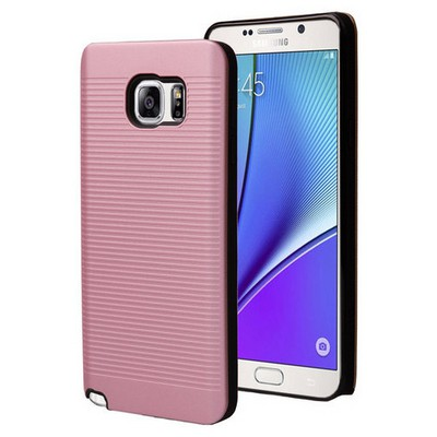 Microsonic Samsung Galaxy Note 5 Kılıf Linie Anti-shock Pembe Cep Telefonu Kılıfı