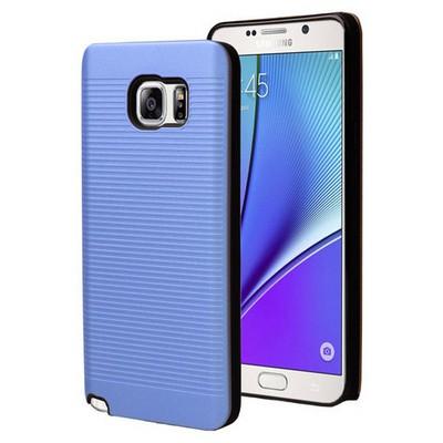 Microsonic Samsung Galaxy Note 5 Kılıf Linie Anti-shock Mavi Cep Telefonu Kılıfı