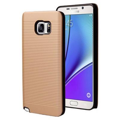 Microsonic Samsung Galaxy Note 5 Kılıf Linie Anti-shock Gold Cep Telefonu Kılıfı