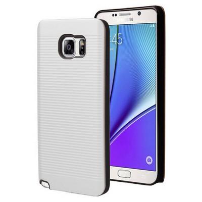 Microsonic Samsung Galaxy Note 5 Kılıf Linie Anti-shock Beyaz Cep Telefonu Kılıfı