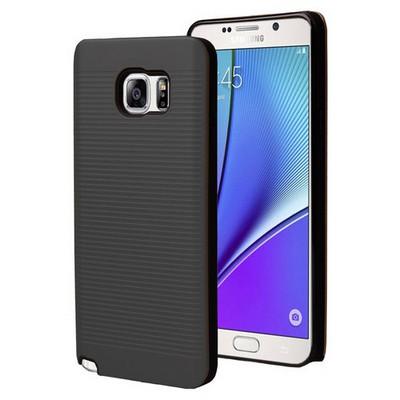 Microsonic Samsung Galaxy Note 5 Kılıf Linie Anti-shock Siyah Cep Telefonu Kılıfı