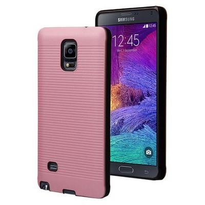 Microsonic Samsung Galaxy Note 4 Kılıf Linie Anti-shock Pembe Cep Telefonu Kılıfı