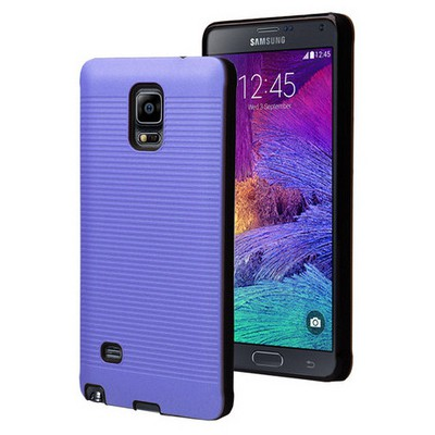 Microsonic Samsung Galaxy Note 4 Kılıf Linie Anti-shock Mavi Cep Telefonu Kılıfı