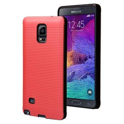 Microsonic Samsung Galaxy Note 4 Kılıf Linie Anti-shock Kırmızı Cep Telefonu Kılıfı