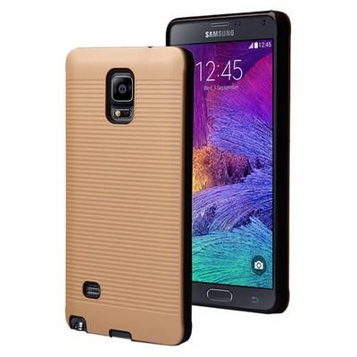 Microsonic Samsung Galaxy Note 4 Kılıf Linie Anti-shock Gold Cep Telefonu Kılıfı