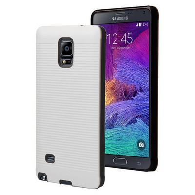 Microsonic Samsung Galaxy Note 4 Kılıf Linie Anti-shock Beyaz Cep Telefonu Kılıfı