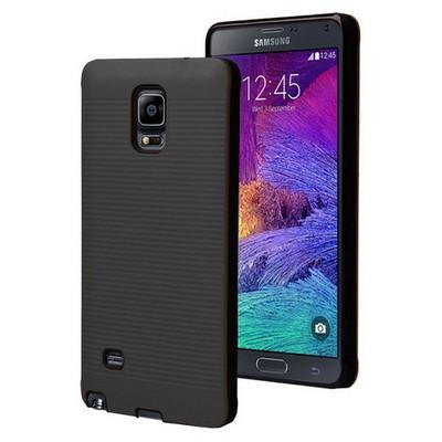 Microsonic Samsung Galaxy Note 4 Kılıf Linie Anti-shock Siyah Cep Telefonu Kılıfı
