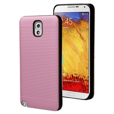 Microsonic Samsung Galaxy Note 3 Kılıf Linie Anti-shock Pembe Cep Telefonu Kılıfı