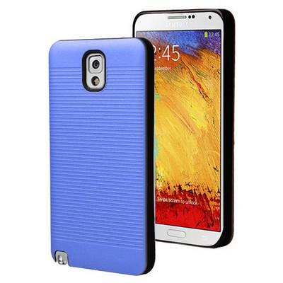 Microsonic Samsung Galaxy Note 3 Kılıf Linie Anti-shock Mavi Cep Telefonu Kılıfı