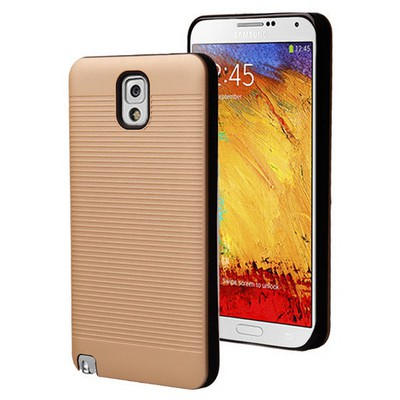 Microsonic Samsung Galaxy Note 3 Kılıf Linie Anti-shock Gold Cep Telefonu Kılıfı