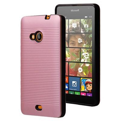 Microsonic Microsoft Lumia 535 Kılıf Linie Anti-shock Pembe Cep Telefonu Kılıfı