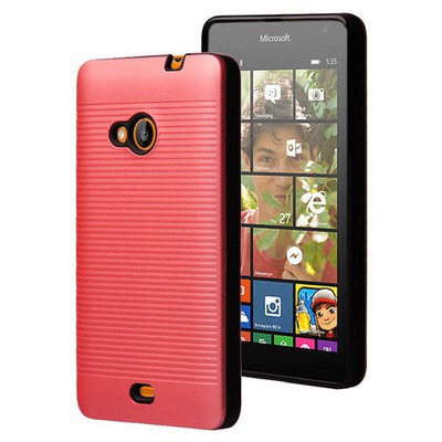 Microsonic Microsoft Lumia 535 Kılıf Linie Anti-shock Kırmızı Cep Telefonu Kılıfı