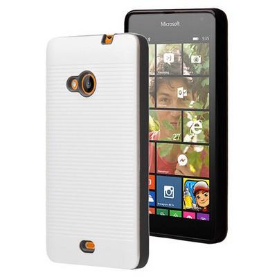 Microsonic Microsoft Lumia 535 Kılıf Linie Anti-shock Beyaz Cep Telefonu Kılıfı