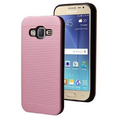 Microsonic Samsung Galaxy J2 Kılıf Linie Anti-shock Pembe Cep Telefonu Kılıfı