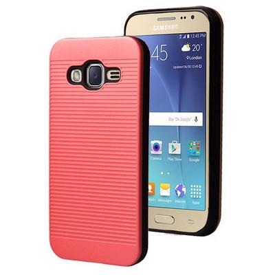 Microsonic Samsung Galaxy J2 Kılıf Linie Anti-shock Kırmızı Cep Telefonu Kılıfı