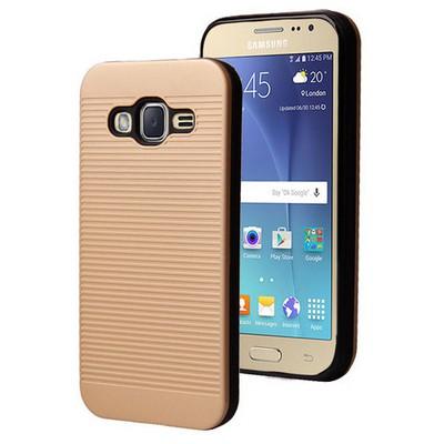 Microsonic Samsung Galaxy J2 Kılıf Linie Anti-shock Gold Cep Telefonu Kılıfı