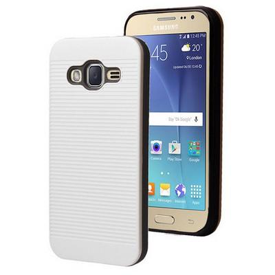 Microsonic Samsung Galaxy J2 Kılıf Linie Anti-shock Beyaz Cep Telefonu Kılıfı