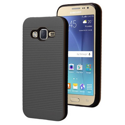 Microsonic Samsung Galaxy J2 Kılıf Linie Anti-shock Siyah Cep Telefonu Kılıfı