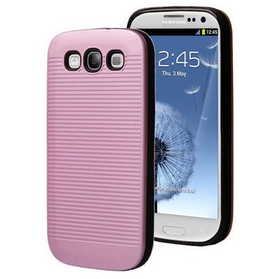Microsonic Samsung Galaxy S3 Kılıf Linie Anti-shock Pembe Cep Telefonu Kılıfı