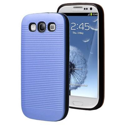 Microsonic Samsung Galaxy S3 Kılıf Linie Anti-shock Mavi Cep Telefonu Kılıfı