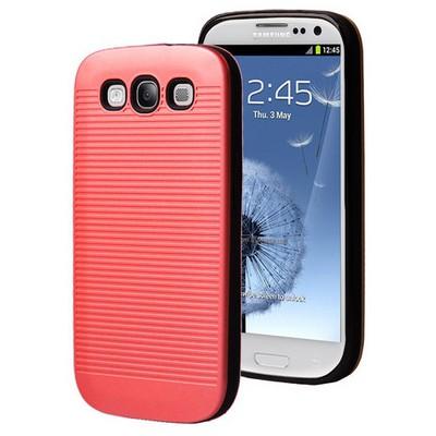 Microsonic Samsung Galaxy S3 Kılıf Linie Anti-shock Kırmızı Cep Telefonu Kılıfı