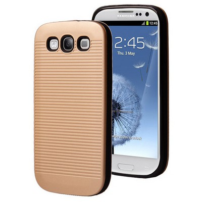 Microsonic Samsung Galaxy S3 Kılıf Linie Anti-shock Gold Cep Telefonu Kılıfı