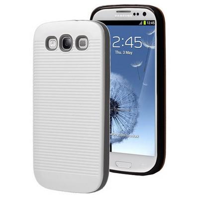 Microsonic Samsung Galaxy S3 Kılıf Linie Anti-shock Beyaz Cep Telefonu Kılıfı