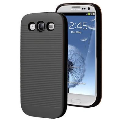 Microsonic Samsung Galaxy S3 Kılıf Linie Anti-shock Siyah Cep Telefonu Kılıfı