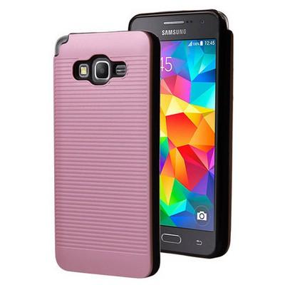 Microsonic Samsung Galaxy Grand Prime Kılıf Linie Anti-shock Pembe Cep Telefonu Kılıfı
