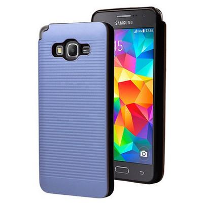 Microsonic Samsung Galaxy Grand Prime Kılıf Linie Anti-shock Mavi Cep Telefonu Kılıfı