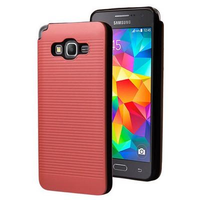 Microsonic Samsung Galaxy Grand Prime Kılıf Linie Anti-shock Kırmızı Cep Telefonu Kılıfı