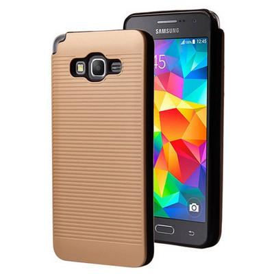 Microsonic Samsung Galaxy Grand Prime Kılıf Linie Anti-shock Gold Cep Telefonu Kılıfı