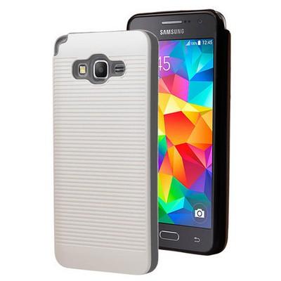 Microsonic Samsung Galaxy Grand Prime Kılıf Linie Anti-shock Beyaz Cep Telefonu Kılıfı