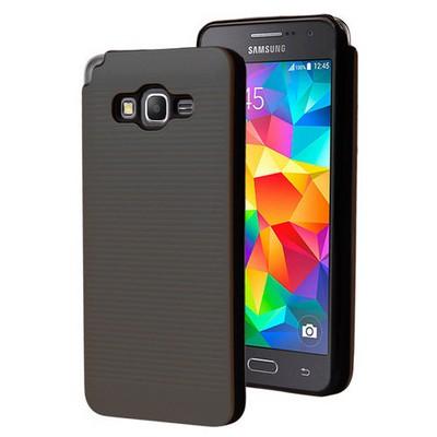 Microsonic Samsung Galaxy Grand Prime Kılıf Linie Anti-shock Siyah Cep Telefonu Kılıfı