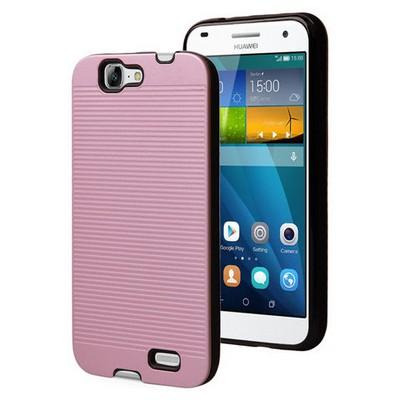 Microsonic Huawei Ascend G7 Kılıf Linie Anti-shock Pembe Cep Telefonu Kılıfı