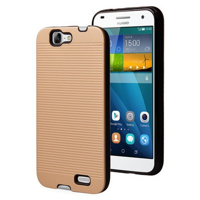 Microsonic Huawei Ascend G7 Kılıf Linie Anti-shock Gold Cep Telefonu Kılıfı