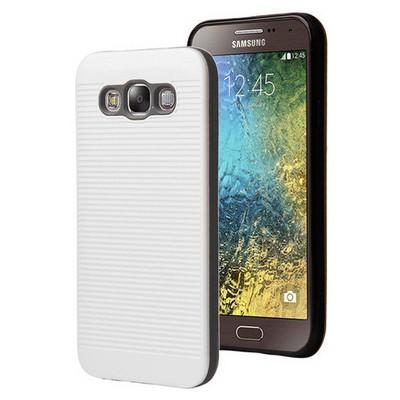 Microsonic Samsung Galaxy E7 Kılıf Linie Anti-shock Beyaz Cep Telefonu Kılıfı