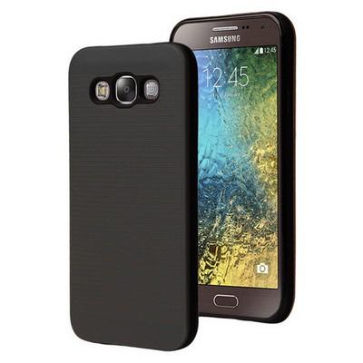 Microsonic Samsung Galaxy E7 Kılıf Linie Anti-shock Siyah Cep Telefonu Kılıfı