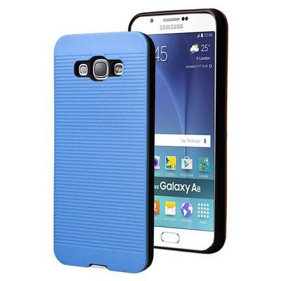 Microsonic Samsung Galaxy A8 Kılıf Linie Anti-shock Mavi Cep Telefonu Kılıfı