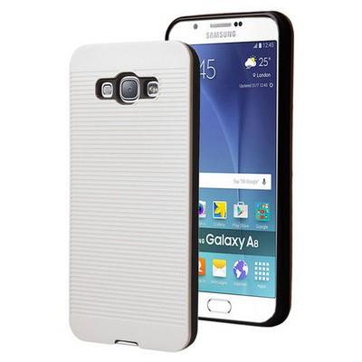 Microsonic Samsung Galaxy A8 Kılıf Linie Anti-shock Beyaz Cep Telefonu Kılıfı