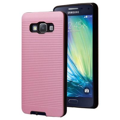 Microsonic Samsung Galaxy A7 Kılıf Linie Anti-shock Pembe Cep Telefonu Kılıfı