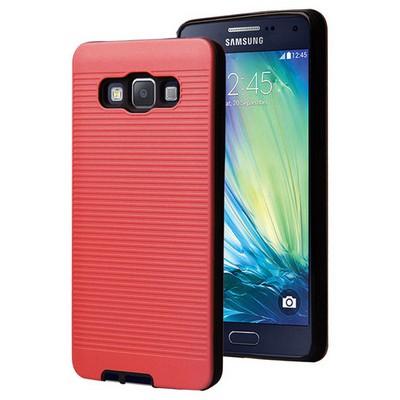 Microsonic Samsung Galaxy A7 Kılıf Linie Anti-shock Kırmızı Cep Telefonu Kılıfı