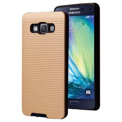 Microsonic Samsung Galaxy A7 Kılıf Linie Anti-shock Gold Cep Telefonu Kılıfı